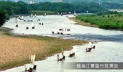 楠溪江景區竹筏漂流