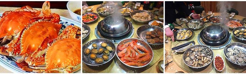 9-12月季節限定:當地梭子蟹每人一隻 (1-3月更換海鮮蒸鍋:鮑魚+大蝦 每人一隻)