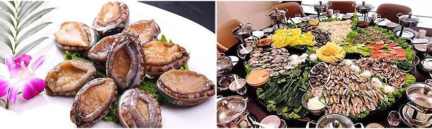 海鮮火鍋+鮑魚各吃100