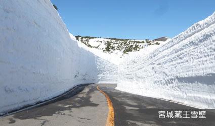 宮城藏王雪壁