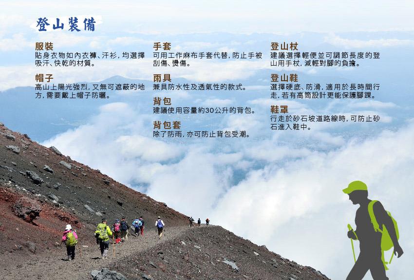 富士山_登山裝備