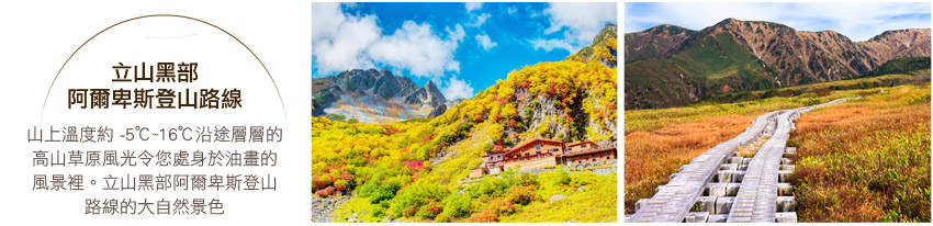 立山黑部阿爾卑斯登山路線