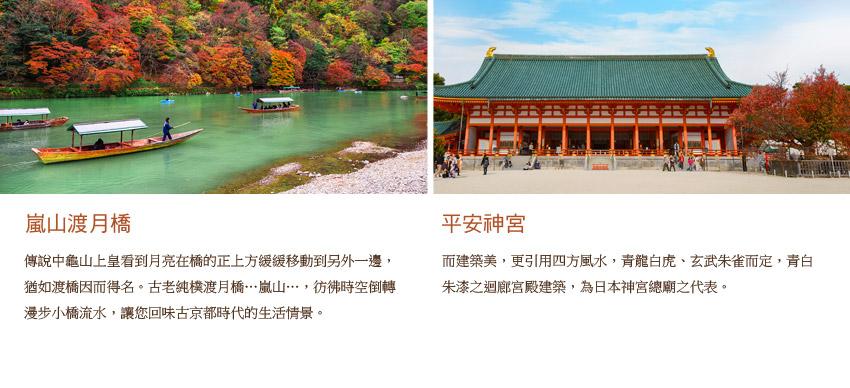 嵐山渡月橋.平安神宮