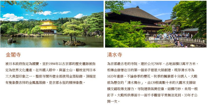 金閣寺及清水寺