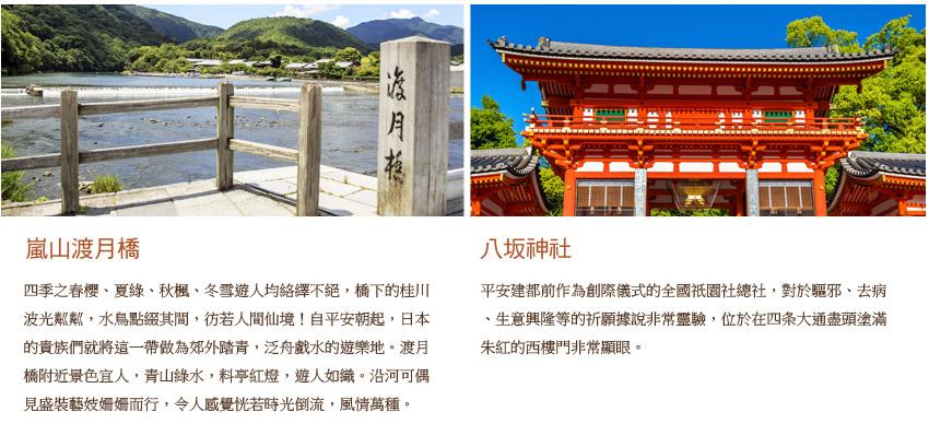 嵐山渡月橋.八坂神社