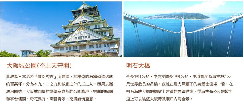 大阪城+明石大橋