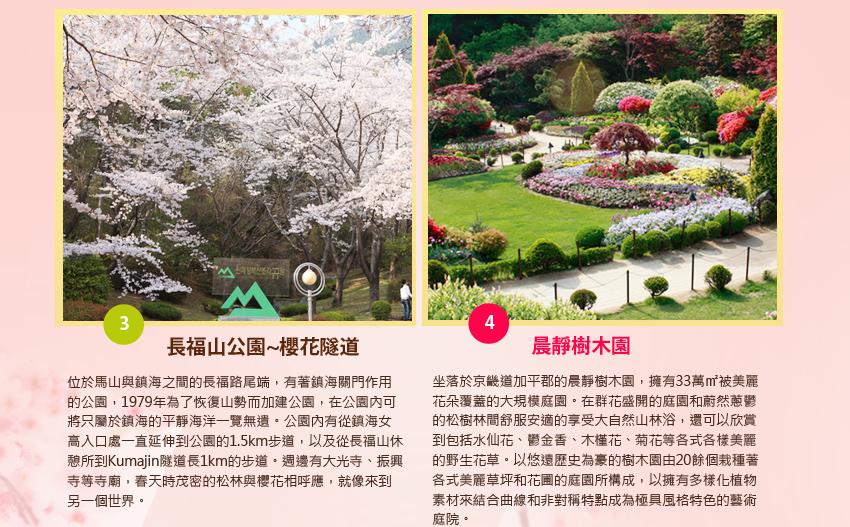 長福山公園櫻花隧道及晨靜樹木園