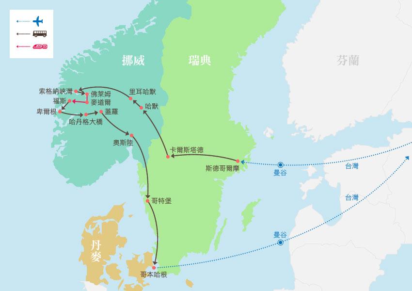 地圖_瑞典、芬蘭、挪威、丹麥