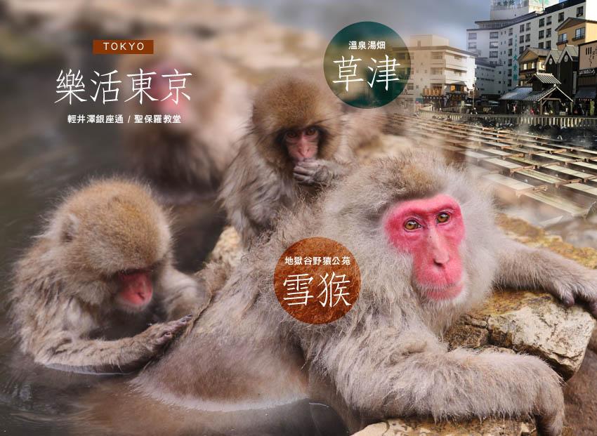 樂活東京草津雪猴banner